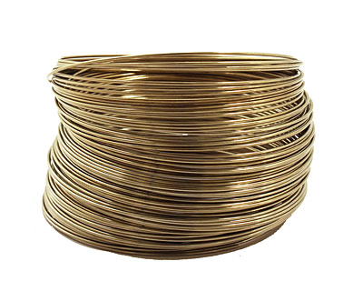 Remembrance Stainless Steel Memory Wire Harvest Gold Bracelet 1 oz.