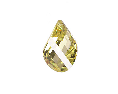 Jonquil Faceted Twisted Oval 15x17mm