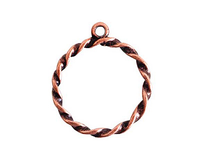Nunn Design Antique Copper (plated) Rope Connector 23x27mm