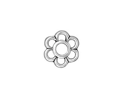 TierraCast Antique Silver (plated) 6 Petal Link 14mm