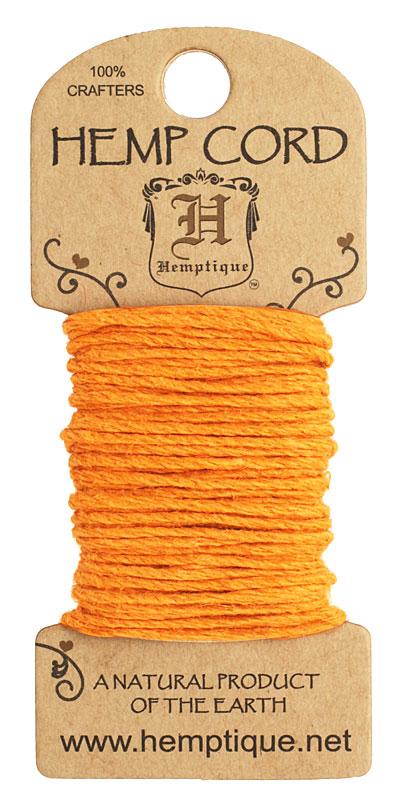 Orange Hemp Twine 20 lb, 20 ft