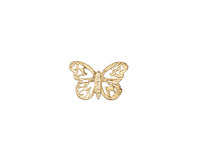 Zola Elements Satin Gold (plated) Lace Butterfly 16x10.5mm