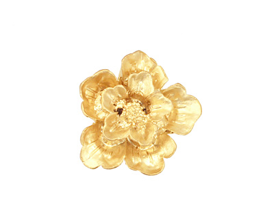 Ezel Findings Gold (plated) Flower Link 19x21mm