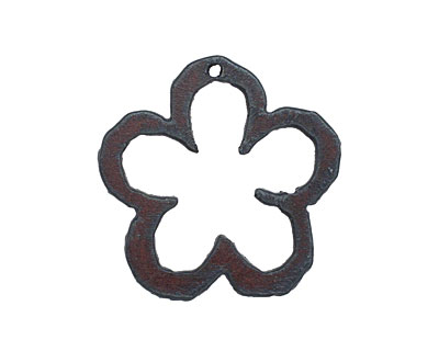 The Lipstick Ranch Rusted Iron Flower 38x38mm