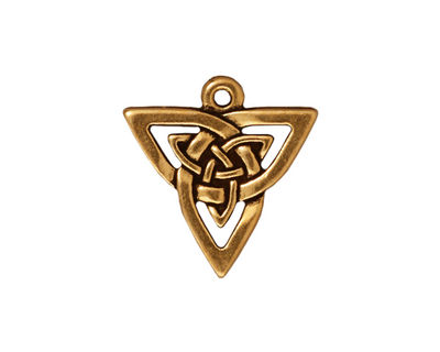 TierraCast Antique Gold (plated) Open Triangle Pendant 20x21mm