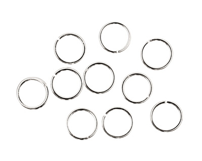Silver (plated) Round Jump Ring 8mm, 18 gauge