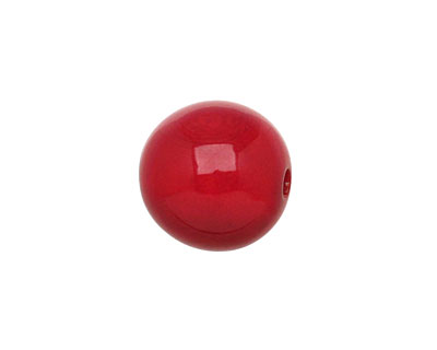 Tagua Nut Red Round 16mm