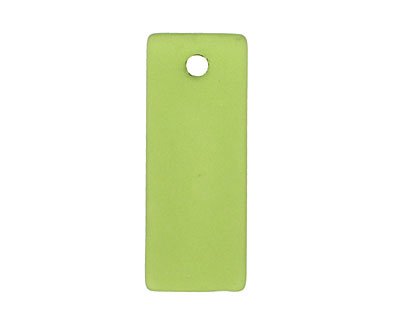 Olive Recycled Glass Bottle Curve Rectangle 14x35mm