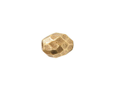 Nunn Design Antique Gold (plated) Faceted Barrel 12x9mm