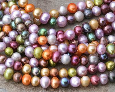 Rainbow Freshwater Potato Pearl 6-7mm