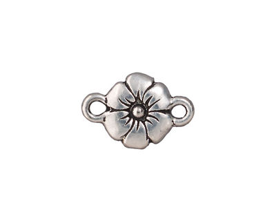 TierraCast Antique Silver (plated) Flower Link 19x13mm