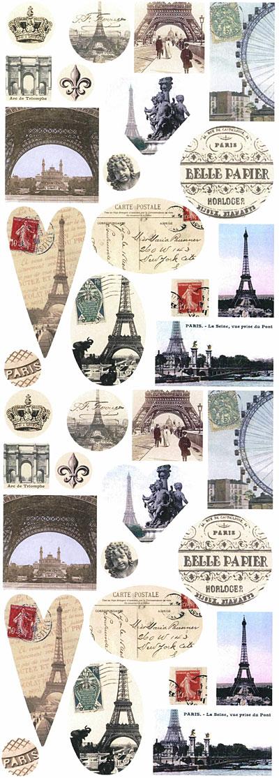 Nunn Design Paris Collage Sheet