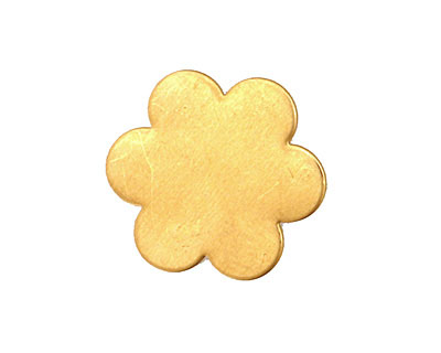 Brass Flower Blank 21mm
