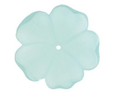 Matte Aqua Lucite 5 Petal Flower 10x36mm
