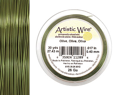Artistic Wire Olive 26 gauge, 30 yards