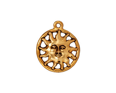 TierraCast Antique Gold (plated) Sunshine Charm 17x25mm