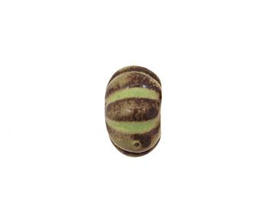 Gaea Ceramic Spring Green on Chocolate Lantern 9x15-16mm