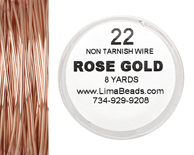 Parawire Rose Gold 22 gauge, 8 yards