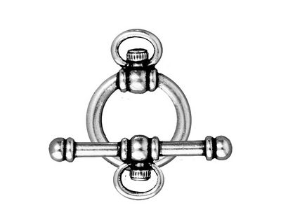 TierraCast Antique Silver (plated) Watch Toggle Clasp 16x22mm, 28mm bar