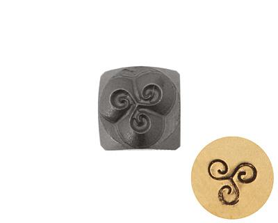 Triple Spiral Metal Stamp 4.5mm