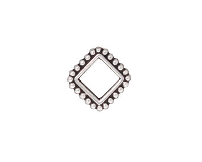 TierraCast Antique Silver (plated) 6mm Diamond Bead Frame 14mm