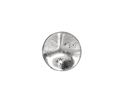 Pewter Wavy Disk 15mm