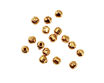 Memory Wire Gold (plated) Scrimp Endcap 3.5mm