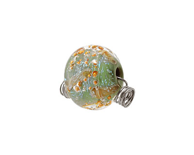 Unicorne Beads Lucky Clover w/ Copper Rondelle 16x20mm