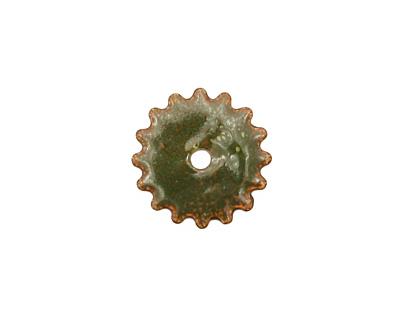 C-Koop Enameled Metal Olive Small Closed Gear 16mm