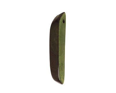 Tagua Nut Forest Green Splinter (top-drilled) 6-8x38-48mm