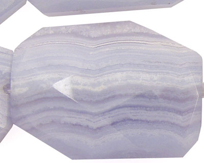 Blue Lace Agate Faceted Flat Slab 35-40x25-30mm
