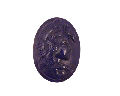 Lapis Carved Oval Cabochon 18x25mm