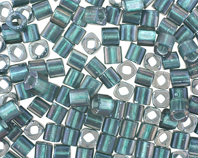 TOHO Crystal (with Teal Lining) Cube 4mm Seed Bead