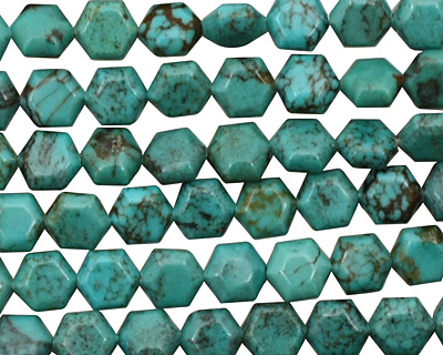 Chinese Turquoise Hexagon 6mm