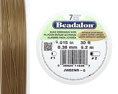 Beadalon Antique Satin Brass .015