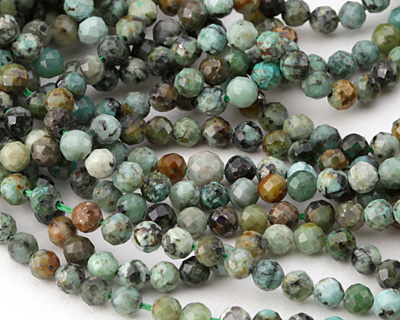 African Turquoise Faceted Round 3mm