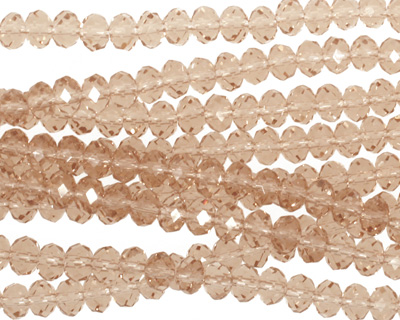 Champagne Crystal Faceted Rondelle 4mm