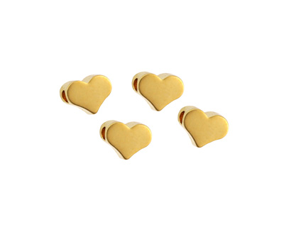 Gold (plated) Heart Focal Bead 5mm