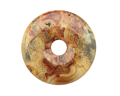 Crazy Lace Agate Donut 40mm