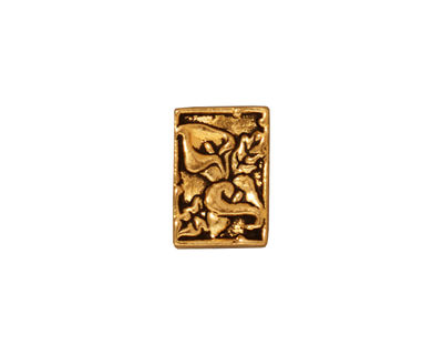 TierraCast Antique Gold (plated) Calla 2-Hole Bar 10x14mm