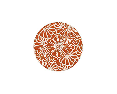Lillypilly Bronze Weathered Daisy Anodized Aluminum Disc 19mm, 24 gauge