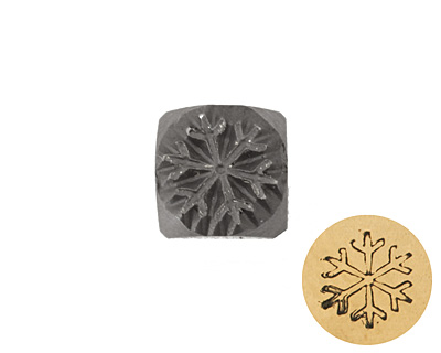 Snowflake Metal Stamp 5mm