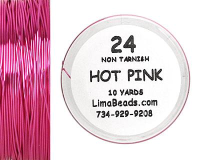 Parawire Hot Pink 24 Gauge, 10 Yards