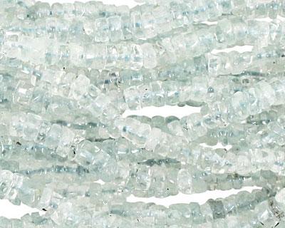 Aquamarine Irregular Heishi 4-5mm