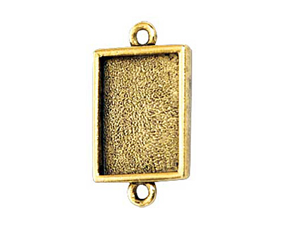 Nunn Design Antique Gold (plated) Mini Rectangle Frame Link 22x12mm
