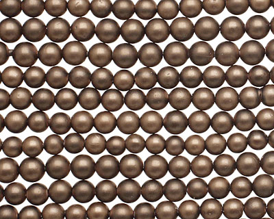Chocolate (matte) Shell Pearl Round 4mm