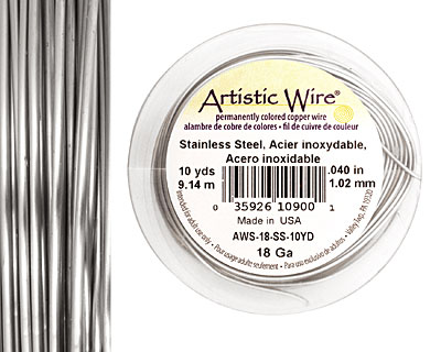 Artistic Wire Stainless Steel 18 gauge, 10 yards