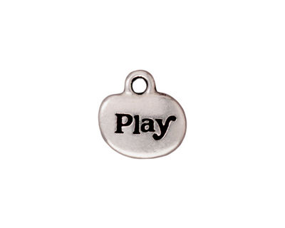 TierraCast Antique Silver (plated) Play Charm w/ Glue In 14mm