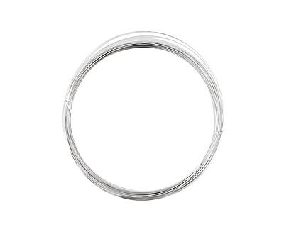 German Style Wire Silver (plated) Half Round 22 gauge, 5 meters