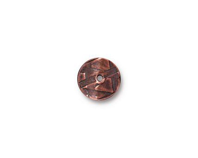 TierraCast Antique Copper (plated) Wavy Disk 2x10mm